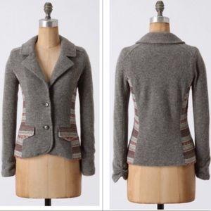 Anthropologie Ett Twa Desert Hue Wool Blazer
